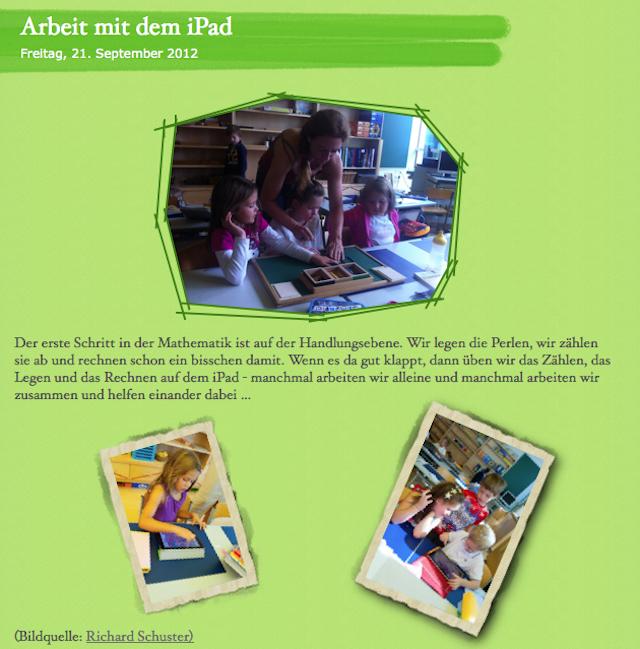Arbeit mit dem iPad