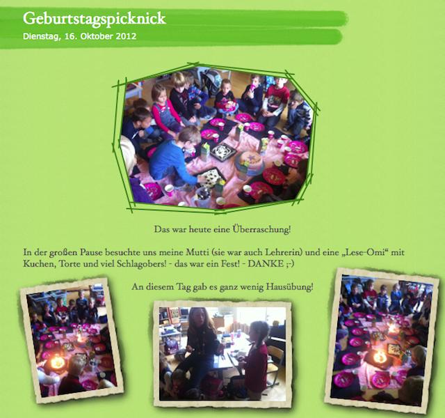 Geburtstagspicknick
