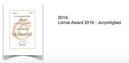 Lörnie Award 2016 - Jurymitglied