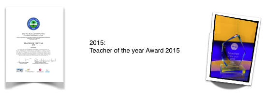 Teacher of the Year Award 2015