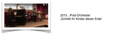 iPad Orchester