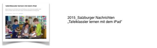 2015_Salzburger Nachrichten: Tafelkassler lernen mit dem iPad